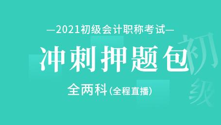 2021年初级会计职称考试-冲刺押题包 (两科)-全程直播课